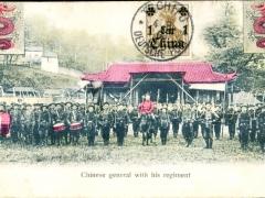 Chinese General wirh his Regiment