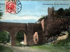 Bornholm Hammershus Ruiner Slotsbroen