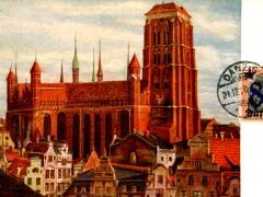 Blick auf die königl Kapelle und St Marien