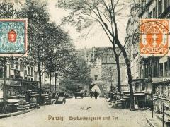 Danzig Brotbankengasse und Tor