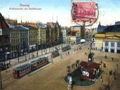 Danzig Kohlenmarkt mit Stadttheater
