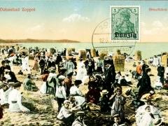 Danzig Ostseebad Zoppot Strandleben