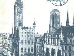 Danzig Rathaus und Marienkirche