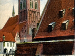 Danzig St Katharinenkirche u alte Mühle