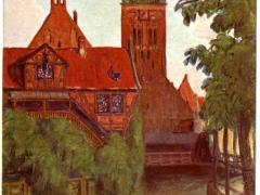 Müllergewerkshaus mit Katharinenkirche