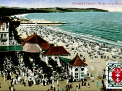 Ostseebad Zoppot Kurgarten und Strand