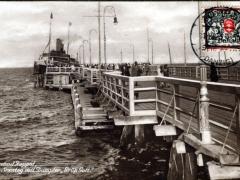 Zoppot Ostseebad Seesteg mit Damper Grüß Gott