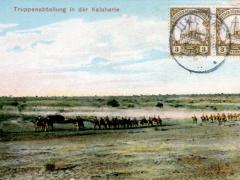 Truppenabteilung in der Kalaharie