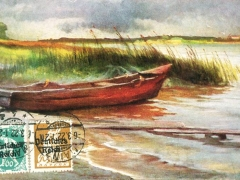 Künstlerkarte aufziehendes Gewitter