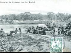 Übersetzen der Karawane über den Wurifluss
