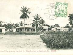 Duala kaiserl. Regierungshospital für Eingeborene mit Leichenhalle