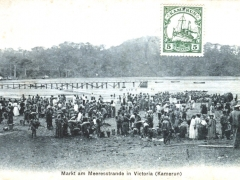 Ngaundere Stempel Markt am Meeresstrande in Victoria
