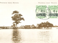 Liberia Monroavia Providence Island Seepoststempel