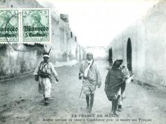 Arabes arrivant au camp a Casablanca