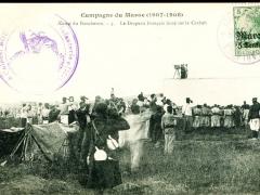 Camp de Boucheron le Drapeau Francais hisse sur la Casbah