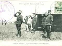 Camp du Boucheron le General d Amade saluant le Drapeau