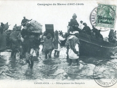 Casablanca Debarquement des Senegalais