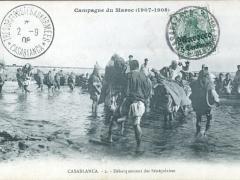 Casablanca Debarquement des Senegalaises