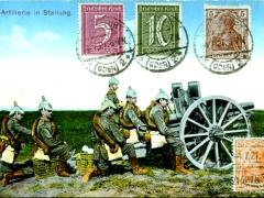 Artillerie in Stellung