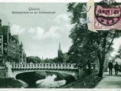 Gleiwitz Klodnitzbrücke an der Wilhemstrasse