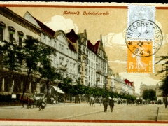Kattowitz Bahnhofstraße Feldpoststempel