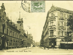 Kattowitz Poststrasse mit Hotel Russ Hof