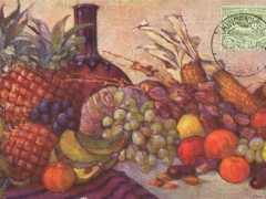 Kolonialkriegerdankkarte Früchte aus unseren Kolonien