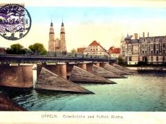 Oppeln Oderbrücke und Kathol Kirche