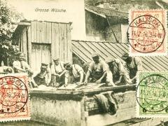 Kriegskarte grosse Wäsche