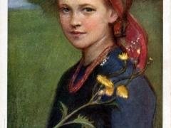 Dziewce z kwiafem Fille avec fleur
