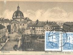 Warszawa Plac i Kosciol Trzech Krzyzy