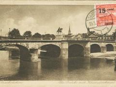 Saarbrücken alte Brücke mit Kaiserdenkmal