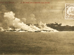 in den Ozean sich ergiessende Lava Savaii