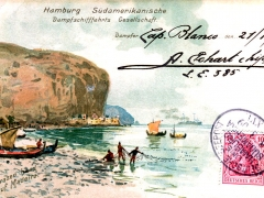 Seepost Hamburg Südamerika Cap Blanco XVI