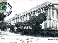 Constantinople Ambassade de France a Pera