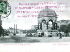 Constantinople Salut de Fontaine Guillaume II et l'Hippodrome