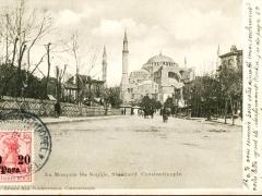 Constantinople la Mosquee Ste Sophia