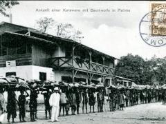 Ankunft-einer-Karawane-mit-Baumwolle-in-Palime