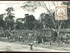 Bau der Ausstellungsgebäude in Palime