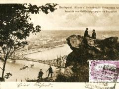 Budapest Aussicht vom Gellertberge gegen die Franzstadt