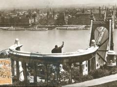Budapest Blick auf Pest vom St Gellert Denkmal