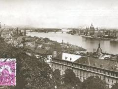 Budapest Blick auf die Margaretheninsel und Parlament