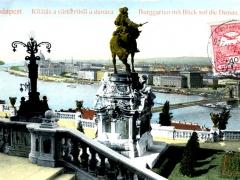 Budapest Burggarten mit Blick auf die Donau