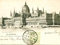 Budapest das neue Parlamentsgebäude