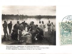 West Abessinien Flusspferdjagd der Jambo am Baroflusse
