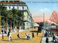 Alger Boulevard de la Republique et Square Bresson