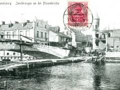 Johannisburg Zerstörungen an der Pissekbrücke