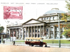 Melbourne the Museum Art Gallery and free LIbrary