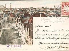 Augsburg Blick vom Jakoberturm
