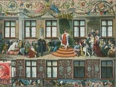 Augsburg Fuggerhaus Büger Ausburgs Kaiser Maximilian